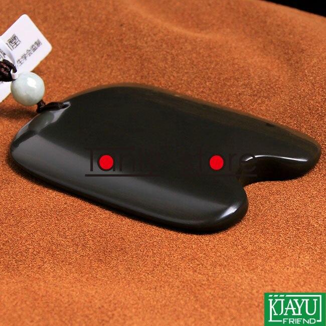 Grade 5A Origine Si Ben bian-pierre massage guasha plaque 80x60x8mm