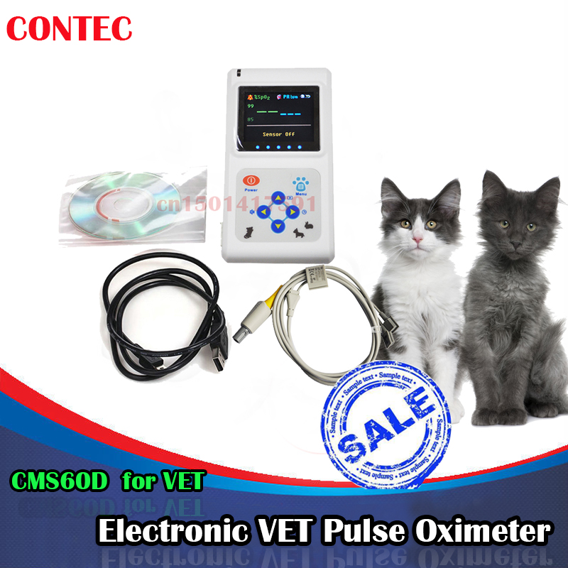 все цены на USA Stock, 2-5 days delivery, Veterinary Contec CMS60D Pulse Oximeter for Amimals Pets Vet Use with USB Software онлайн