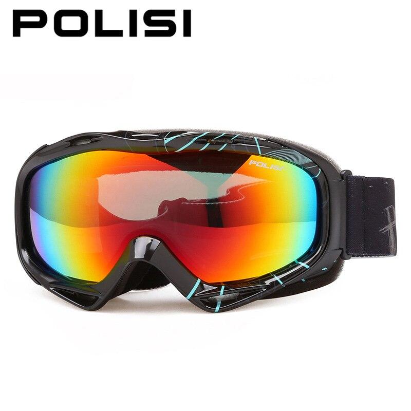 POLISI extérieur Ski neige Snowboard lunettes polarisées Anti-buée lentille motoneige Skate lunettes hiver alpinisme Ski lunettes