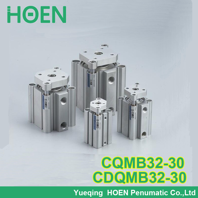 CQMB32-30 CDQMB32-30 CQM series 32mm bore 30mm stroke compact guide rod cylinder double-acting single rod pneumatic cylinders  built in magnet double acting guide rod cdqmb100 30 compact cylinder bore 100mm stroke 30mm