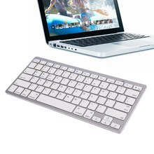 Ultra Slim Mini Silver Wireless Bluetooth 3.0 Keyboard English Version Keyboard For Android MAC Windows OS System Wholesale
