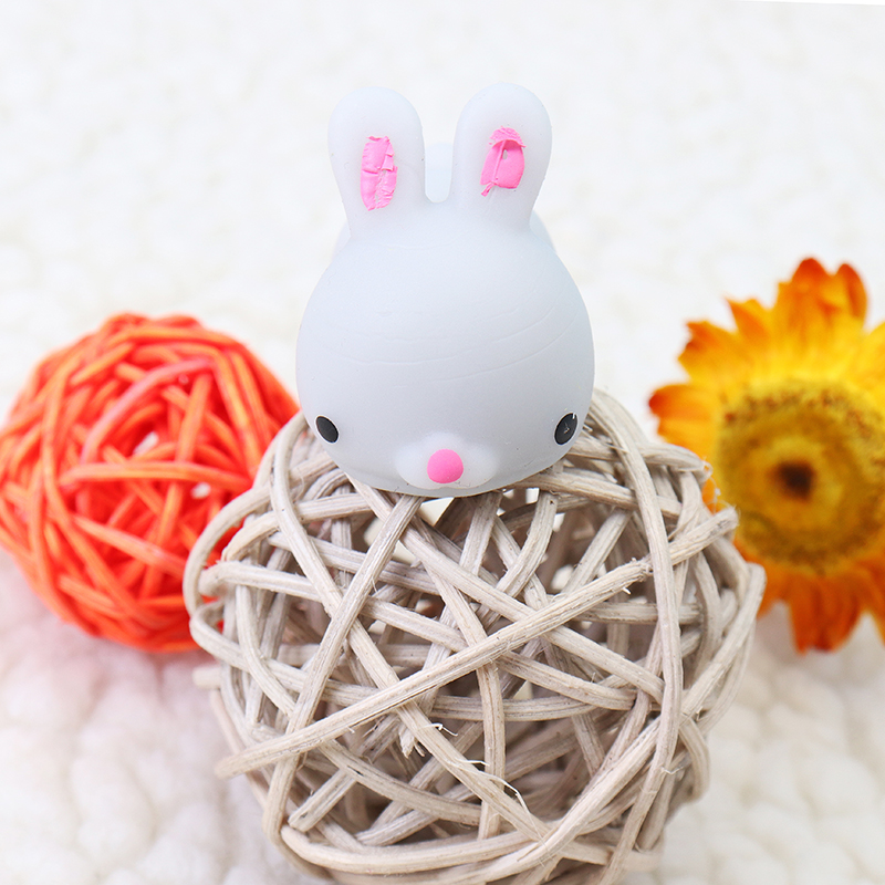 Grey Bunny Rabbit Cute Healing Toy Lovely Collection Stress Reliever Gift Decoration Kids Children