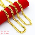 Gold Plated Hiphop Male Chains Necklaces Long Link Chain Necklace for Men Party Dancing Jewelry