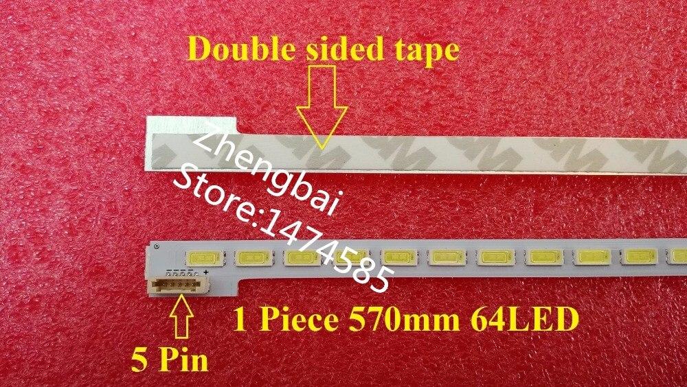 SSL460-3E1C LJ64-03471A LTA460HQ18 46 LED bande TRAÎNEAU 2012SGS46 7030L 64 REV1.0 1 Pièce = 570mm * 7mm * 1.2mm 64LED