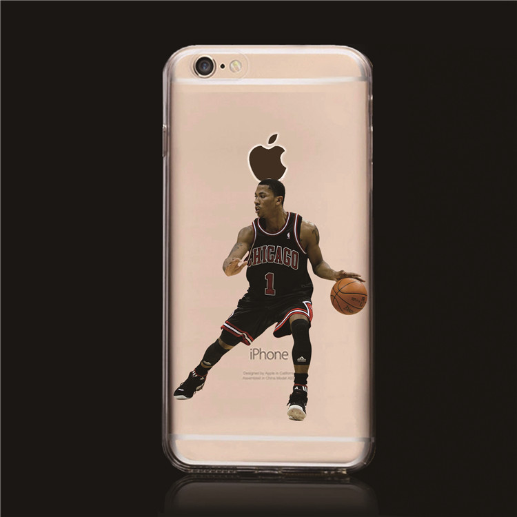 3789aba37758 2015 Popular NBA Stars case for iphone 6 Transparent Hard Case Derrick Rose  Allen Iverson case cover for iphone 6 plus 5.5