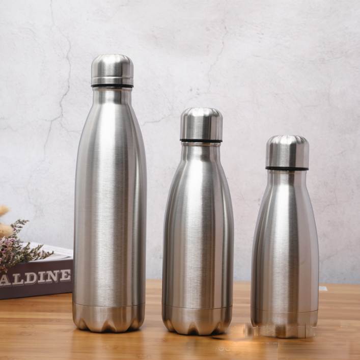 Rugged Coke-Bottle Water-Cup Stainless-Steel Warm Sport A11225 Single-Layer