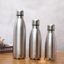 Однослойная бутылка для теплой воды из нержавеющей стали, однослойная Спортивная бутылка из нержавеющей стали, прочная чашка для воды A11225
