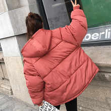 Thick Warm Hooded Down Cotton Parkas Women Winter Coat Cotton Padded Jacket 2018 NEW Loose Short Outerwear Female Clothing