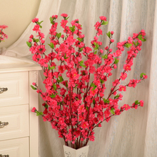 50inch New fashion Artificial Cherry Spring Plum Peach Blossom Branch Silk Flower Tree Decor P20