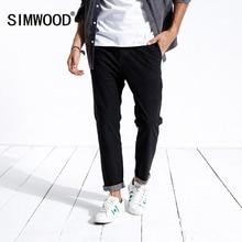 SIMWOOD Nuovo 2020 Dei Jeans della molla Degli Uomini Slim Fit di Modo casual Caviglia Lunghezza Pantaloni Del Denim Dei Pantaloni di Marca di Abbigliamento Plus Size 180400
