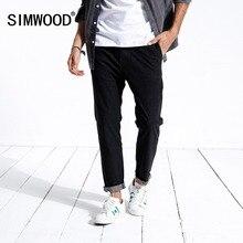 SIMWOOD nowy 2020 wiosenne dżinsy mężczyźni Slim Fit moda Casual kostki spodnie dżinsowe spodnie odzież marki Plus rozmiar 180400