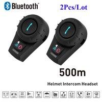 2 STKS Freedconn FDC-01VB Bluetooth Motorfiets Interphone met FM Full Duplex Helm Rijders BT Intercom Headset Intercomunicator