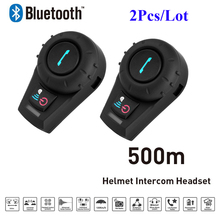 2PCS Freedconn FDC-01VB Bluetooth Motorcycle Interphone with FM Full Duplex Helmet Riders BT Intercom Headset Intercomunicator
