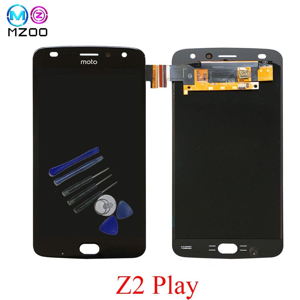 Оригинальный Super AMOLED ЖК-дисплей Дисплей для Motorola Moto Z2 играть XT1710 XT1710-01/07/08/09/10 сенсорный экран планшета в сборе заменить