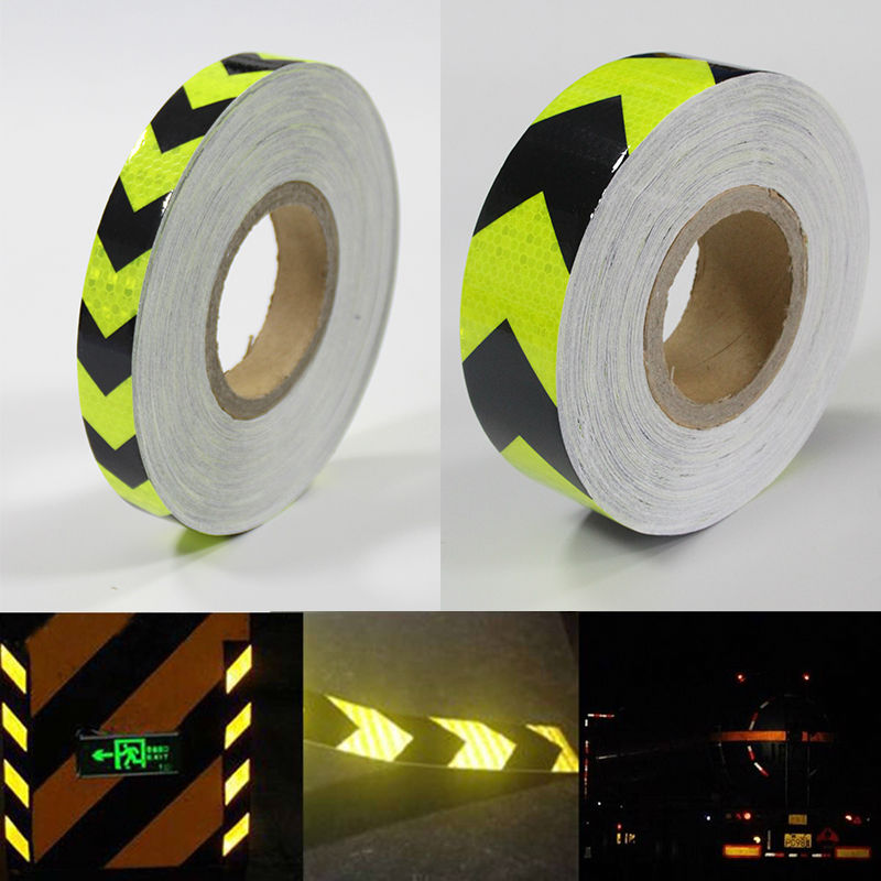 500CM Arrows Reflective Warning Conspicuity Tape Film Sticker Concrete Floor Caution Markings Yellow//Black Color 5