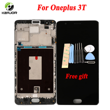 Phone LCD For Oneplus 3t Display Touch Screen With Frame Digitizer Assembly Replacement Screen For OnePlus 3 One Plus 3T 5.5""