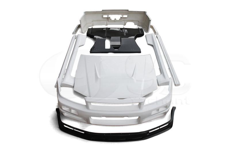 1999-2000 Nissan Skyline R34 GTT 2D GTR Conversion Body Kit (1)