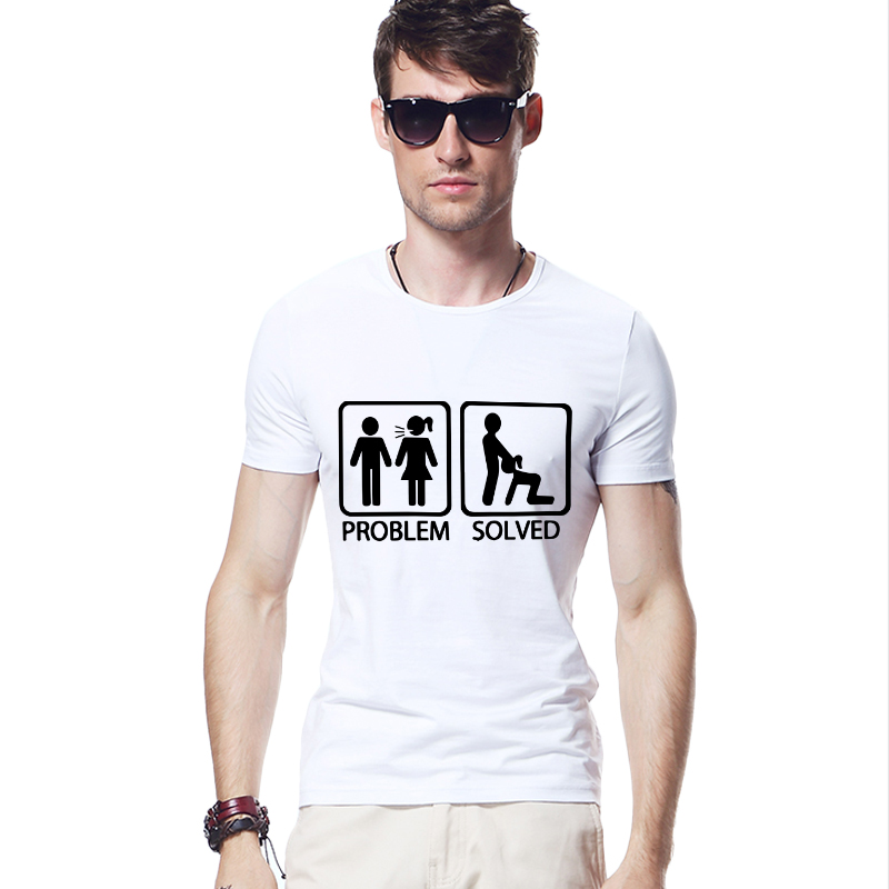 top quality funny mens clothing problem solved electric