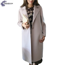 TNLNZHYN Women clothing Woolen cloth coat winter fashion Leisure large size Long sleeve female High end Woolen Outerwear QQ471