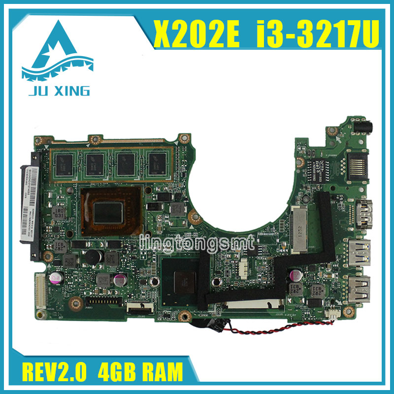 for ASUS X202E Q200E Laptop motherboard X201E X202E S200E i3-3217U 4G USB3.0 REV2.0 HD Graphics Integrated 100% tested x202e q200e s200e x201e laptop motherboard mainboard for asus with i3 2365cpu 4g ddr3 1333 mhz tested