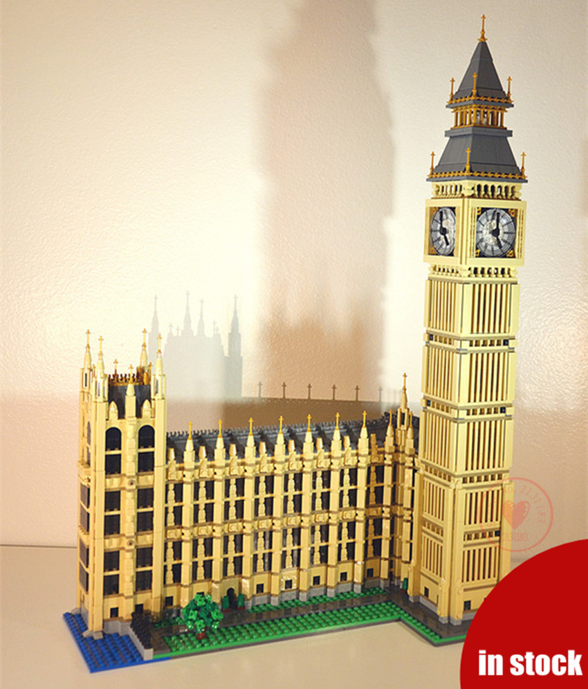 New city creator Model Building Kit Blocks Bricks City Streetview Big Ben Elizabeth Tower fit legoings diy Toy 10253 gift kid