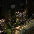 LukLoy для подсветки газона с питанием от солнечной панели свет дорожка сад община газон вилла квадратный открытый пластиковый плагин полый в ...