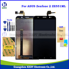 Original LCD Screen Replacements For Asus Zenfone 2 ZE551ML Z00AD Z00ADB Z00ADA 5.5″ Display Digitizer Assembly + LOGO + Tools