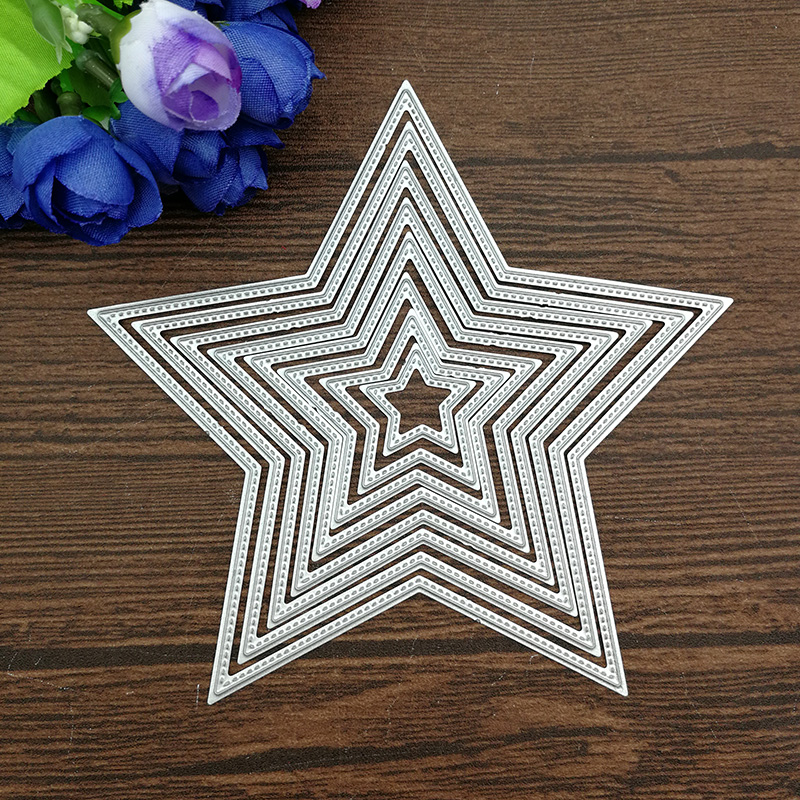 8pcs Basic Stars Cutting Dies Carbon steel Metal Cutting Dies Scrapbooking Decorative Paper Cards Template(China)