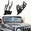 A dupla-pilar Luz de Nevoeiro Holofotes De Montagem Suportes Para Jeep Wrangler JK 2007 ~ 2015 Barra de Luz Offroad Suporte