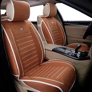 Image 4 - Универсальные льняные чехлы на автомобильные сиденья для Toyota Corolla Camry Rav4 Auris Prius Yalis Avensis SUV Автомобильные аксессуары Автомобильные палочки автомобильные сиденья