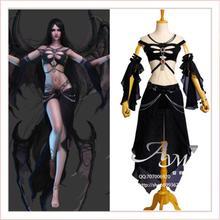 Free Shipping Sexy Shaiya Dark Goddess Game Cosplay Costume Tailor-made