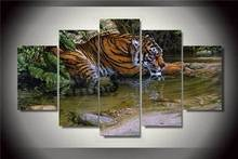 Hd Printed Tiger Figure Painting On Canvas Room Decoration Print Poster Picture Canvas Free Shipping/Ny-2152 NO Framed With