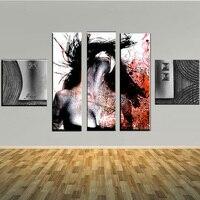 Современный дизайн Рисунок Картина маслом на холсте большой размер 5 панелей стены искусства для гостиной стены Pictures Home декор, живопись