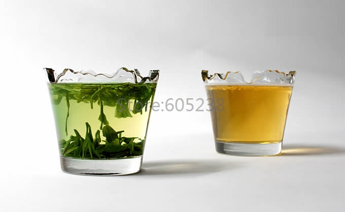 Free Shipping 2 Pieces /Set Chipped Glass <font><b>Cup</b></font> Set / <font><b>Broken</b></font> Glass Cocktail Glasses