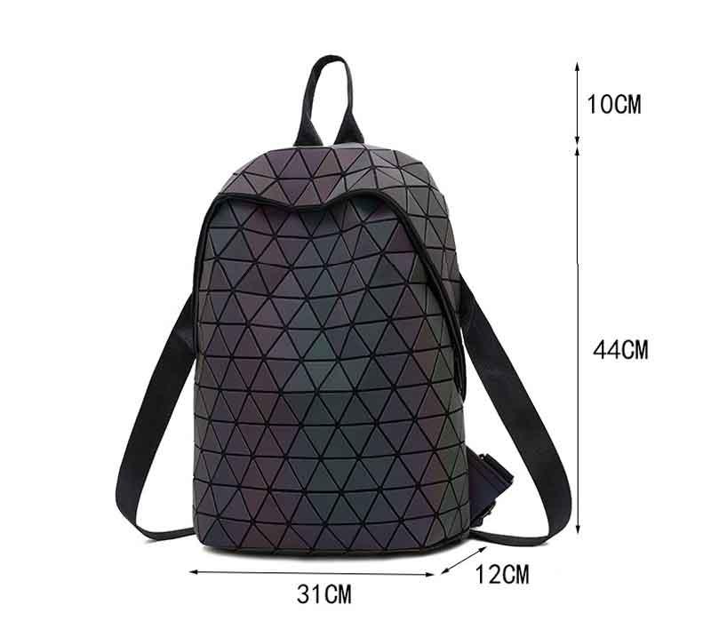 HTB1ZB5lKhTpK1RjSZFMq6zG VXab Luminous Backpacks Women Geometric Laptop Backpack For Men Shoulder Backpack School Holographic Rucksack Female Trave School Bag