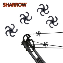 12Pcs Archery Bow String Stabilizer Silencer Dampener Reduce Noice Compound BowString For Outdoor Shooting Training Accessories