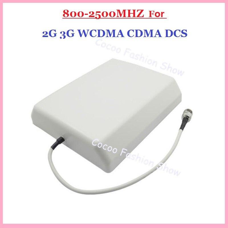 Envío gratis 2G/3G CDMA/GSM/DCS/AWS/WCDMA 8dBi teléfono móvil señal interior panel de pared antena