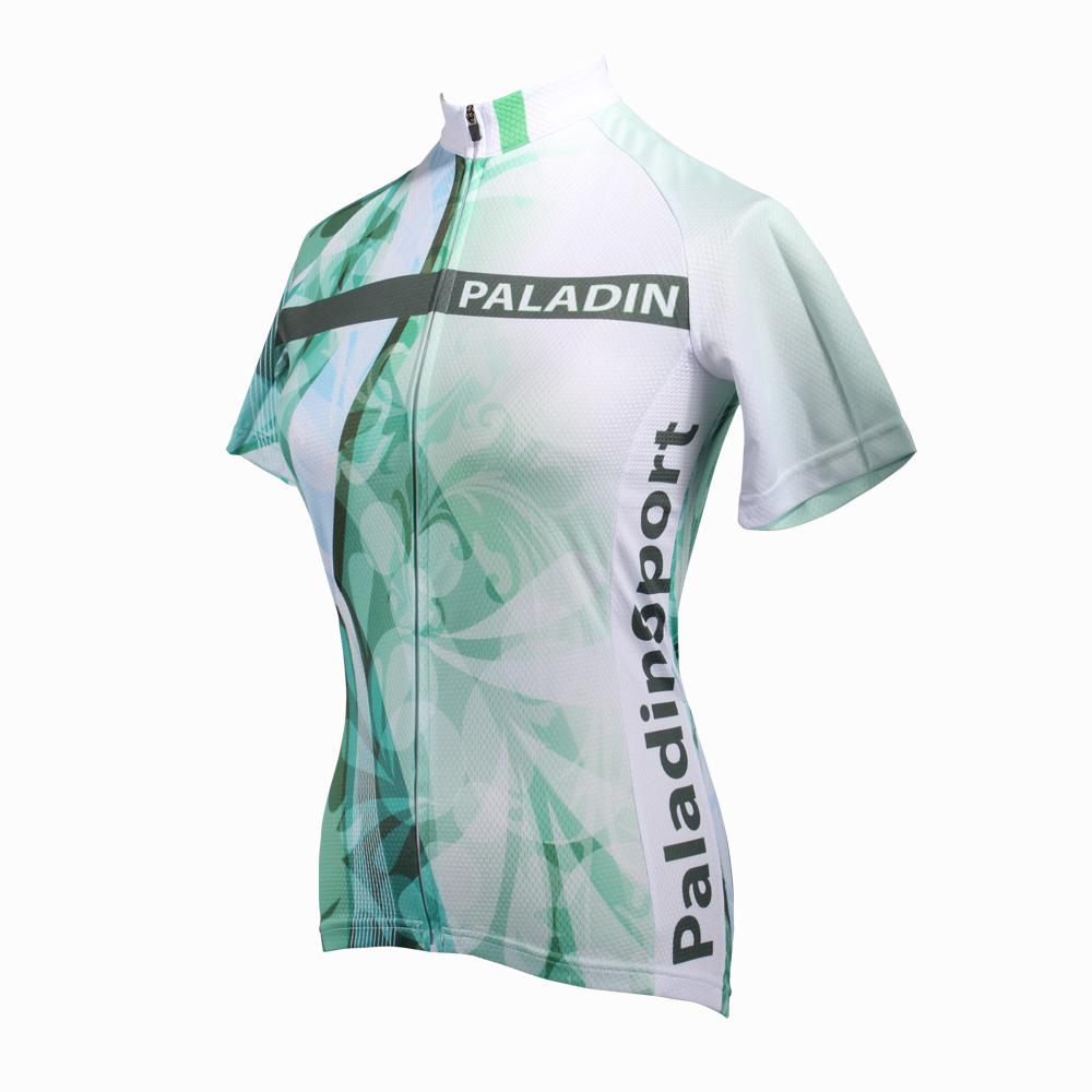 CYCLING JERSEYS Women Personality Flowers top Sleeve Cycling Jersey Green bike top Breathable Cycling Clothes Size XS-6XL ILPALA 2016 new men s cycling jerseys top sleeve blue and white waves bicycle shirt white bike top breathable cycling top ilpaladin
