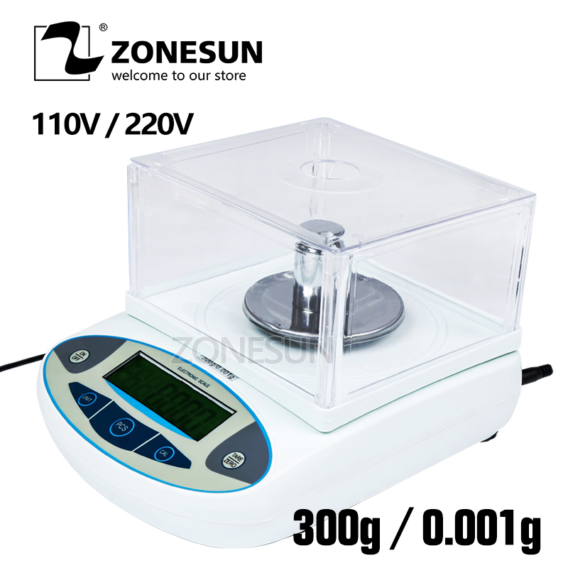 ZONESUN Analytical Balance Lab laboratory Digital Scale 300 x 0.001 g 1 mg Precision Balances balanca precisao One Year Warranty весы balanca digital 100 0 01 g balance100g 0 01 digital scale 0 01g