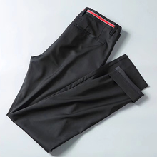 O envio gratuito de alta qualidade de negócios de moda dos homens de Verão Calça casual Calças compridas masculinas calças Slim, estrelas de estilo básico bordado calças