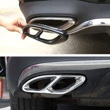 2 pièces de garniture d'échappement en acier noir brillant, pour Mercedes Benz GLC classe E C207 coupé 2014-2017 W212 W213 W205 X253 C180 C200