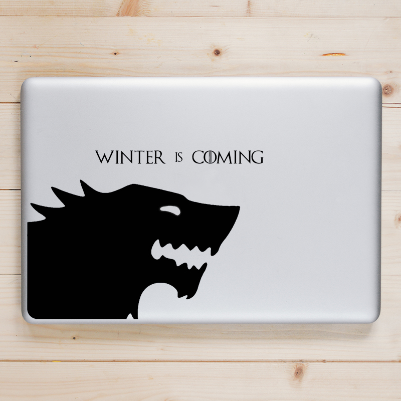Winter is coming Game of Throne Laptop Sticker for Macbook Decal Pro Air Retina 11 12 13 15 inch Mac Book Skin Notebook Sticker
