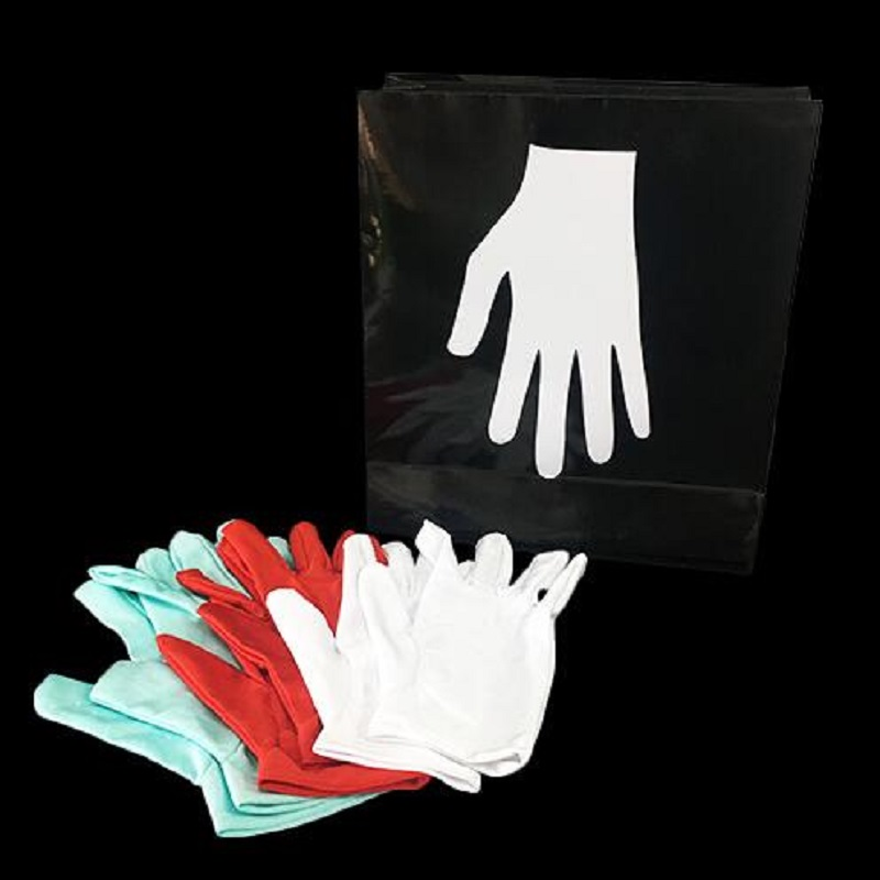 Nouveaux gants de couleur changeants (Version de poche) tours de magie Illusions Gimmick accessoires de magie