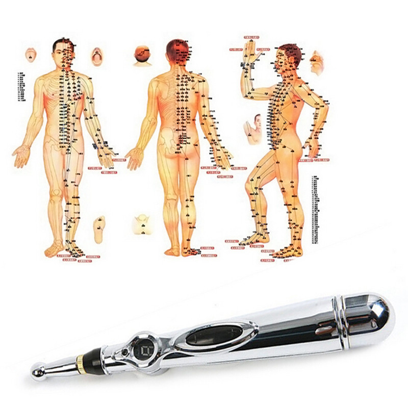 New Electronic Acupuncture Pen Pain Relief Therapy Pen Safe Meridian Energy Heal Massage Body Head Neck Leg Health Massageadores neck therapy instrument lcd display body massage relax acupuncture relieve pain meridian therapy relief fatigue health care