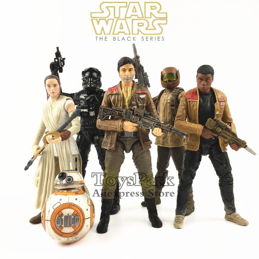 Star Wars 6 Poe Dameron Rey BB 8 FINN Jakku Resistance Trooper Tie Fighter Pilot Action Figure Black Series Last Jedi Doll Toy amazing star 1b 6 8 10 12 6