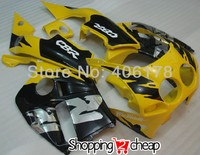 Hot Sales,Body kit for Honda CBR 250 RR CBR250RR MC19 1988 1989 88 89 Yellow Black Motorcycle Fairing (Injection molding)