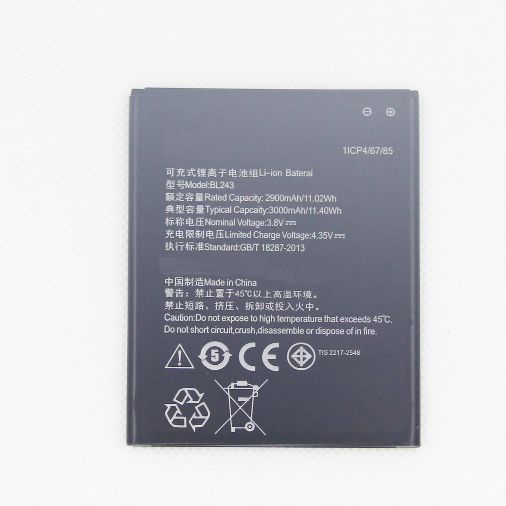 10pcs/lot <font><b>battery</b></font> for <font><b>Lenovo</b></font> <font><b>K3</b></font> <font><b>Note</b></font> original <font><b>Battery</b></font> 2900mAh BL243 Replacement for <font><b>Lenovo</b></font> <font><b>K3</b></font> <font><b>Note</b></font> K50-T5 Smartphone image