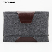 11 13 14 15 4 15 6 Wool Felt Notebook Laptop Sleeve Bag Pouch Case For