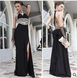 free shipping EMS 50% off  in stock 2012  evening dress prom mermaid evening gowns wedding   bridal  GS blackdresses new fashion