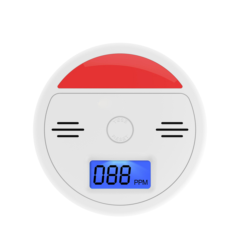 LCD Display CO Detector Independent Carbon Monoxide Alarm Sensor Sound Flash Warning Poi ...